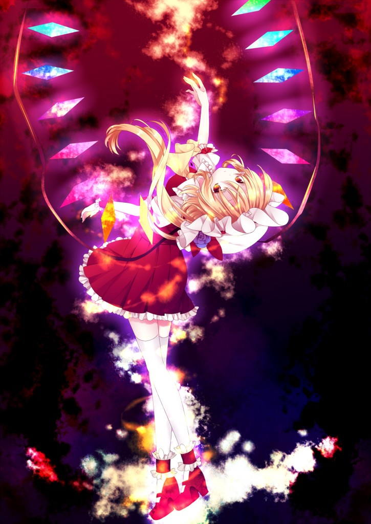 yande.re 193093 flandre_scarlet riichu thighhighs touhou wings