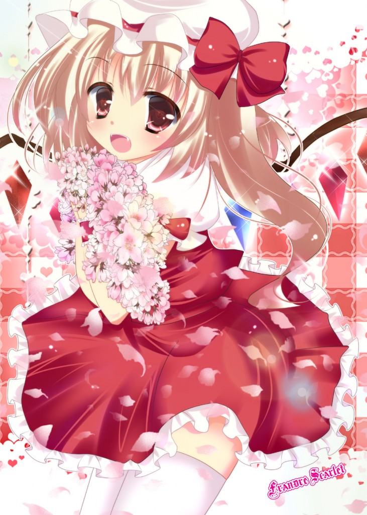 yande.re 214081 flandre_scarlet rika-tan thighhighs touhou wings