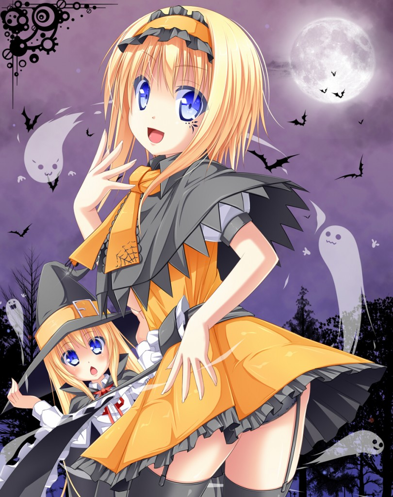 yande.re 229766 alice_margatroid halloween pantsu sakuramochi_mint shanghai stockings thighhighs touhou witch