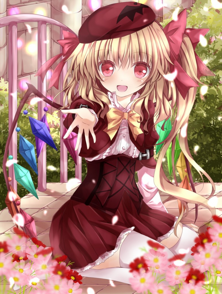 yande.re 240763 flandre_scarlet nanase_nao thighhighs touhou wings