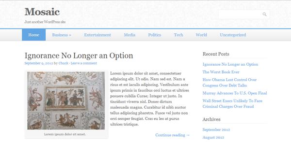 WordPress主题 Mosaic 汉化版 Beta V0.4